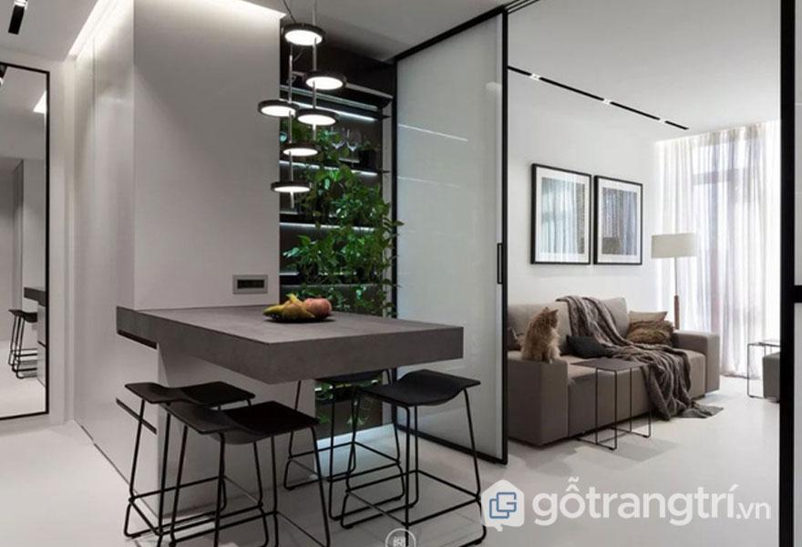 Tư vấn cải tạo căn hộ 44m2 đẹp ngỡ ngàng với nội thất phong cách tối giản