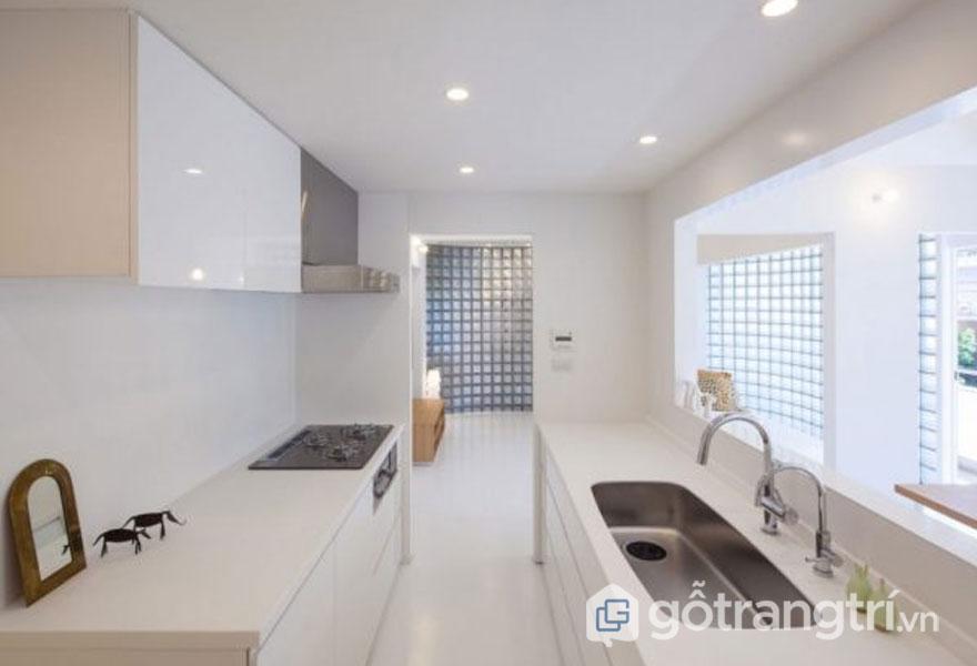 Bếp màu trắng tinh khiết (Ảnh: Internet)