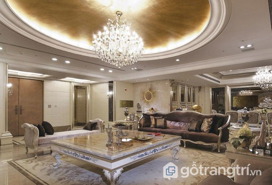 Ánh sáng phù hợp sẽ làm sáng cho căn phòng khách (Ảnh: Internet)