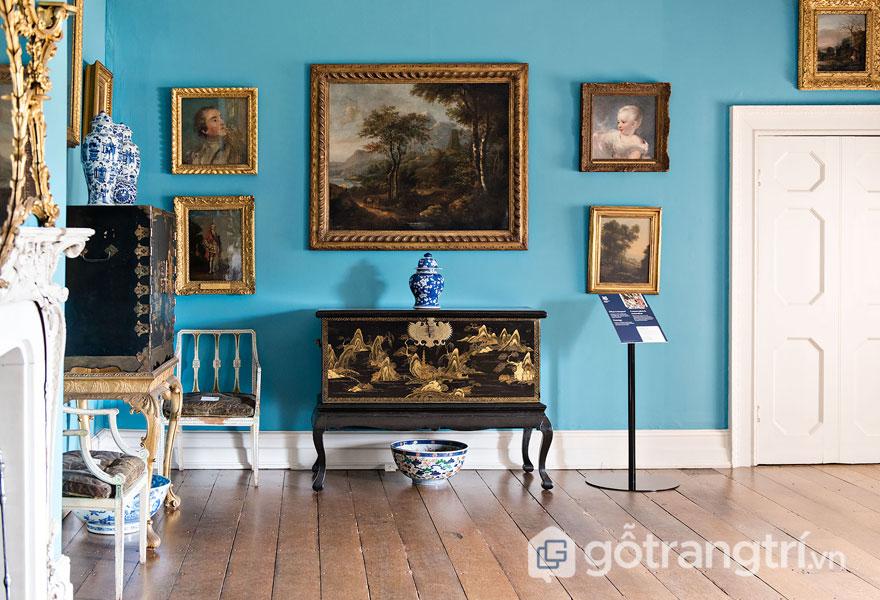 Một căn phòng tại Công viên Osterley trang trí nội thất tân cổ điển (1761) - Ảnh: Internet