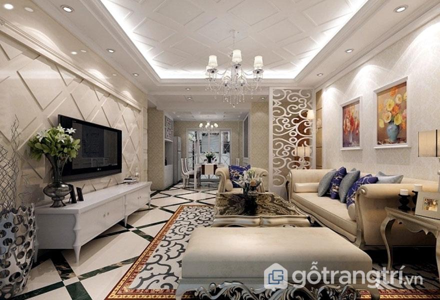 Căn phòng này chính là sự pha trộn giữa nét đẹp cổ điển và nét đẹp hiện đại qua những món đồ nội thất (Ảnh: Internet)