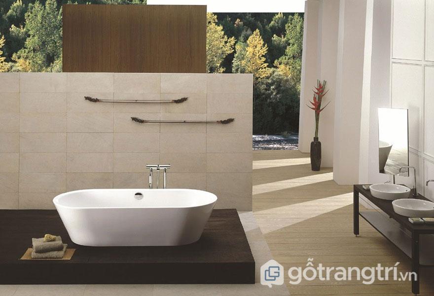 Phòng tắm luôn thiết kế hài hòa với thiên nhiên (Ảnh: Internet)