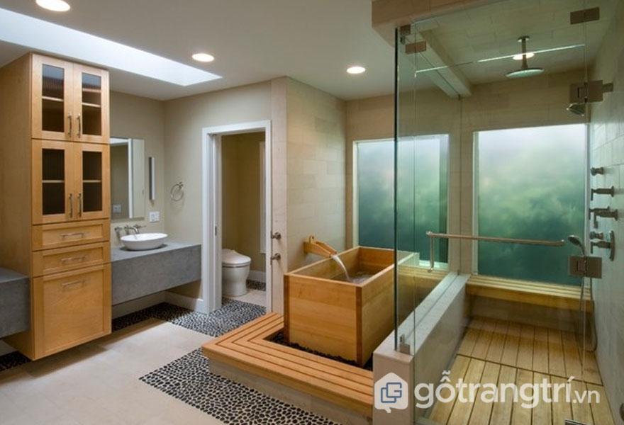 Không thiết kế toilet chung với phòng tắm (Ảnh: Internet)