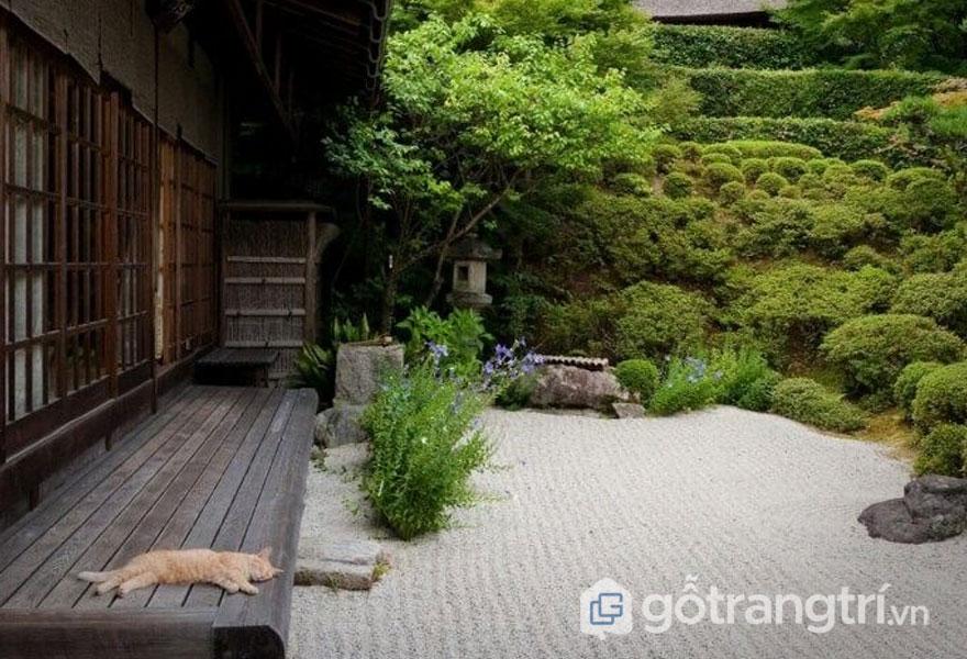 Vườn thiền đặc sắc trong kiến trúc nội thất Nhật (Ảnh: amenagementdesign)