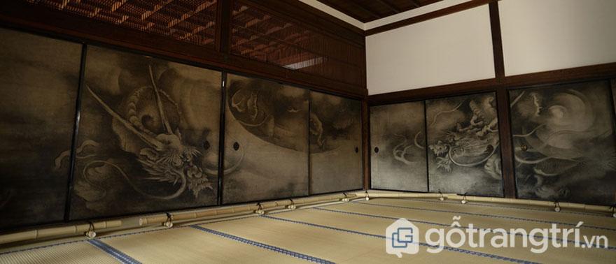 Fusuma- Tấm trượt (Ảnh: Internet)