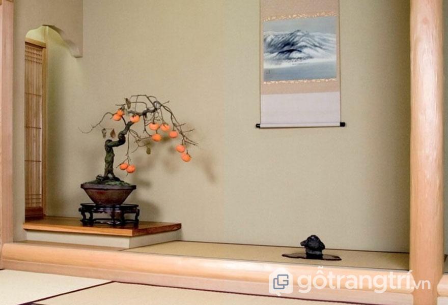 Một cách bài trí khách cho góc Tokonoma (Ảnh: designmag)