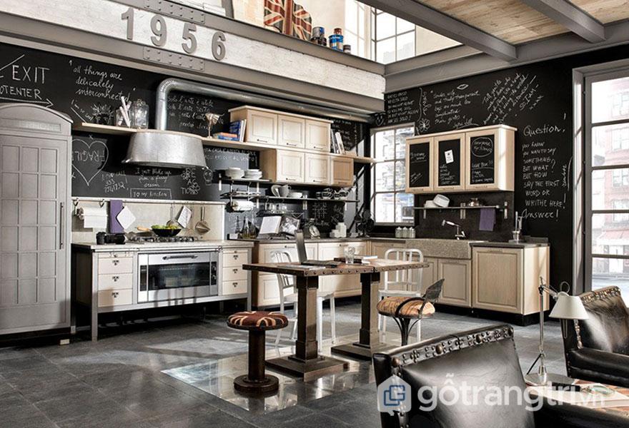 Phòng bếp đậm chất Vintage (Ảnh: Internet)