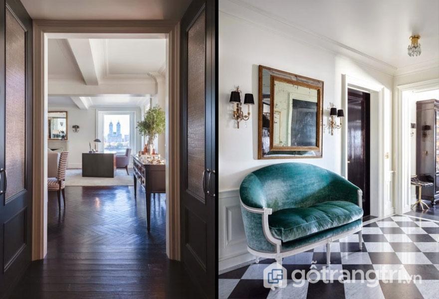 Đồ nội thất mang phong cách art deco thường có thể có mặt gương, kim loại hay thủy tinh (Ảnh: Internet)