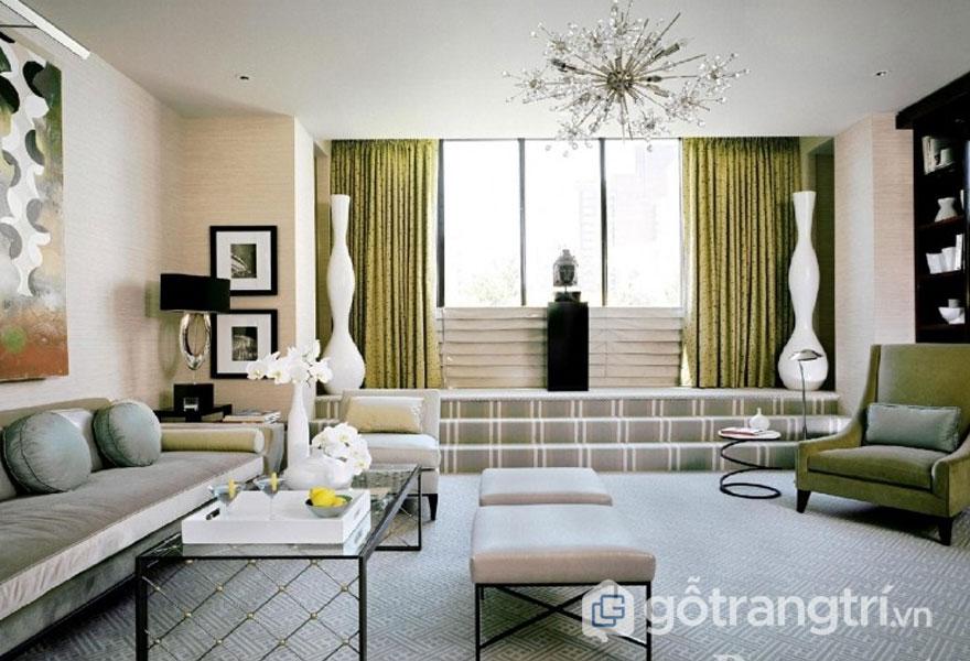 Phòng khách mang phong cách art deco (Ảnh: Internet)