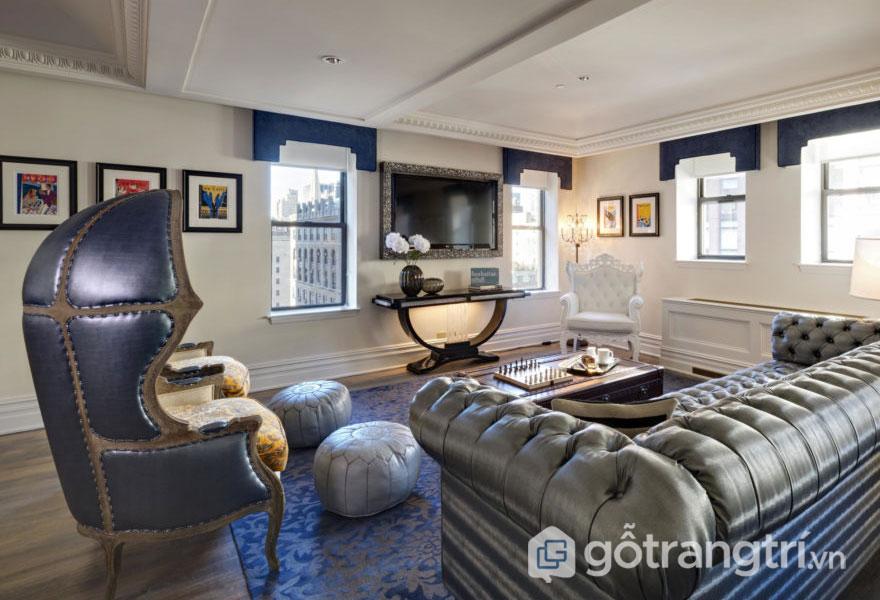 Nội thất được thiết kế theo phong cách Art Deco thì đa phần đều sở hữu kiểu dáng gọn gàng, thanh tao(Ảnh: Internet)