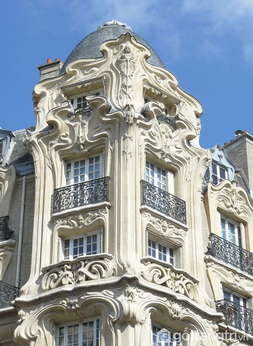 Kiến trúc Art Noveau mới của Pháp (Ảnh: Internet)