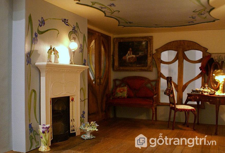 Những hình ảnh hay được sử dụng trong thiết kế của phong cách Art Nouveau là những rễ, hoa, lá cây, mạng nhện, chiệc lông công (Ảnh: Internet)