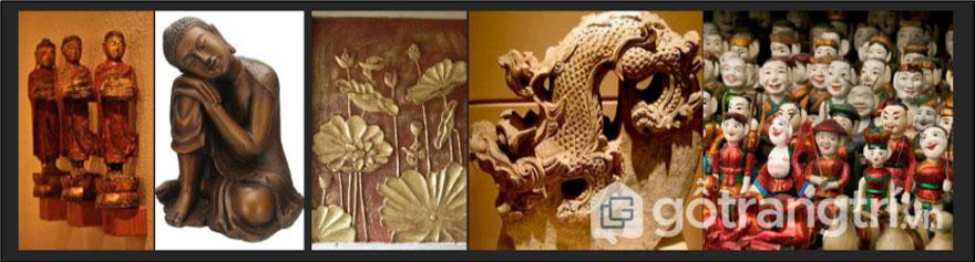 Phù điêu, tượng tròn truyền thống Việt Nam (Ảnh: Internet)