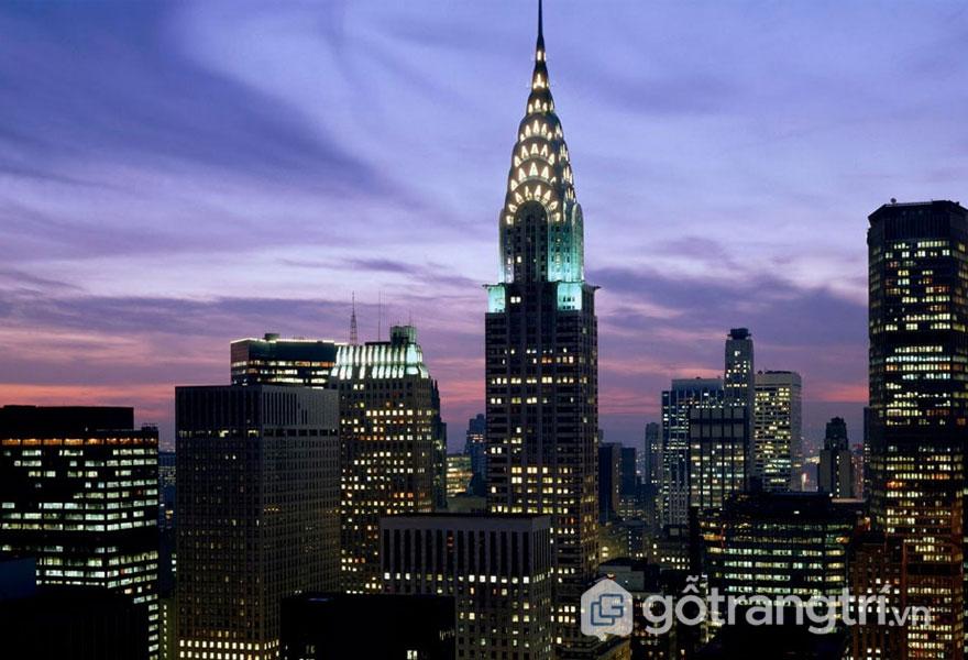Tòa nhà Chrysler, New York, Mỹ - Biểu tượng của thành phố New York kiến trúc Art Deco (Ảnh: Internet)