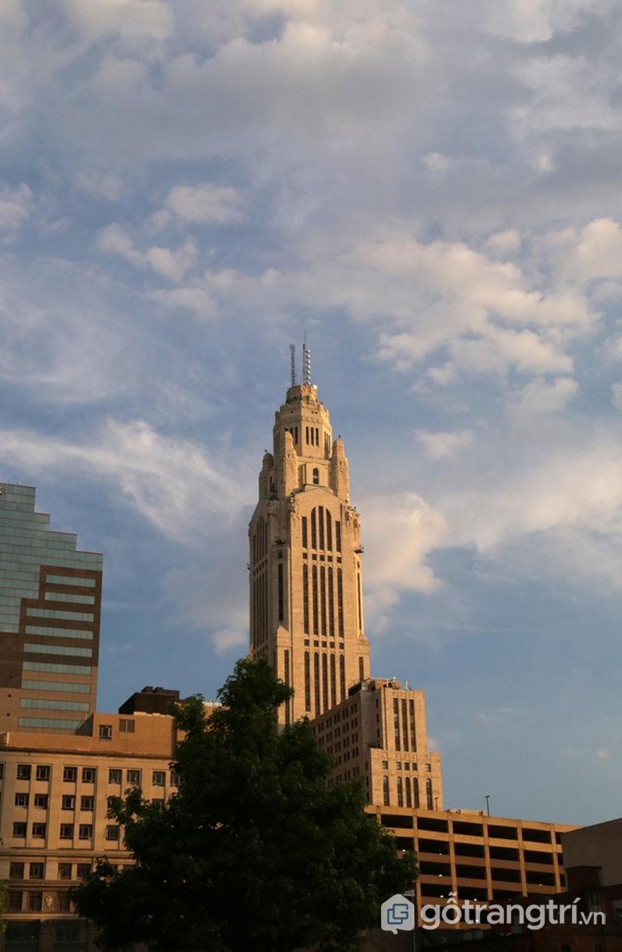 Tháp LeVeque, Columbus, Ohio, Mỹ đã hoàn thành vào năm 1927 (Ảnh: Internet)