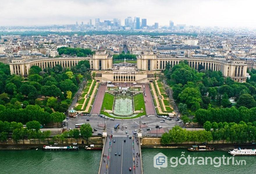 Pallais de Chailott, Paris, Pháp: Công trình kiến trúc kết tinh theo phong cách Art Deco (Ảnh: Internet)