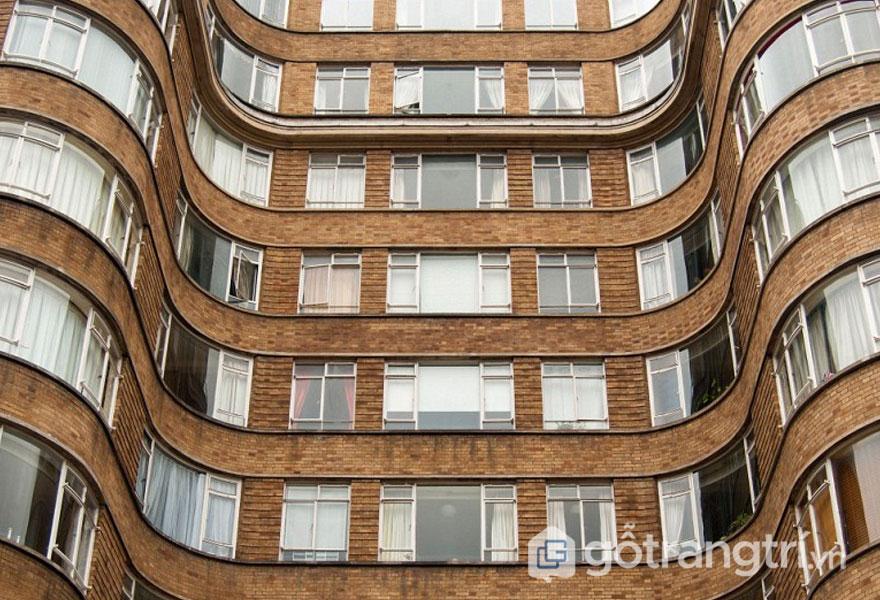 Florin Court, TP Luân Đôn - Mang đậm phong cách kiến trúc Art Deco (Ảnh: Internet)