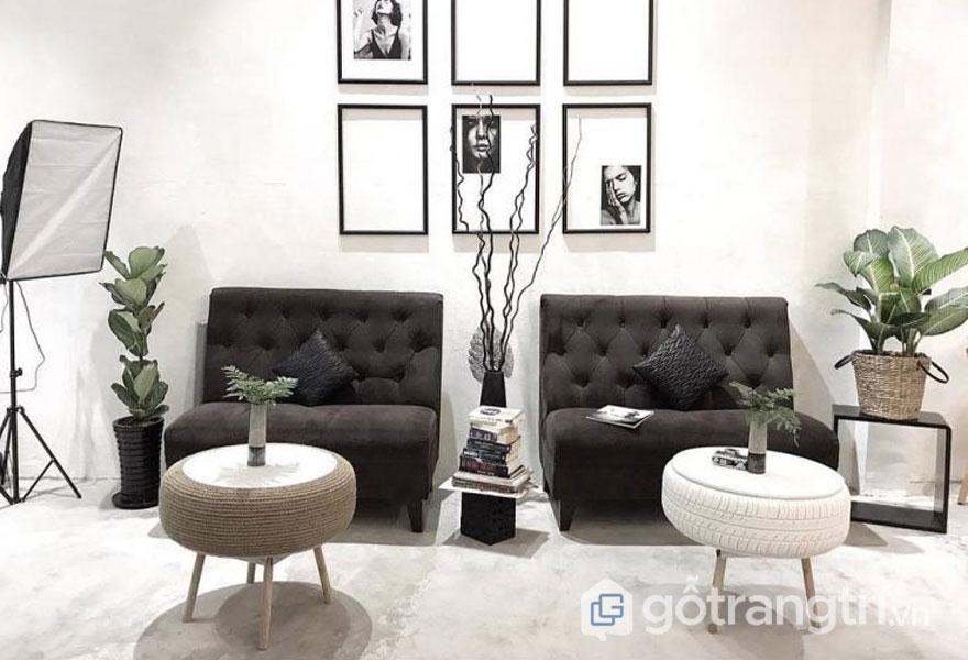Phong cách nội thất Retron: Màu sắc trang trí quán cafe (Ảnh: Internet)