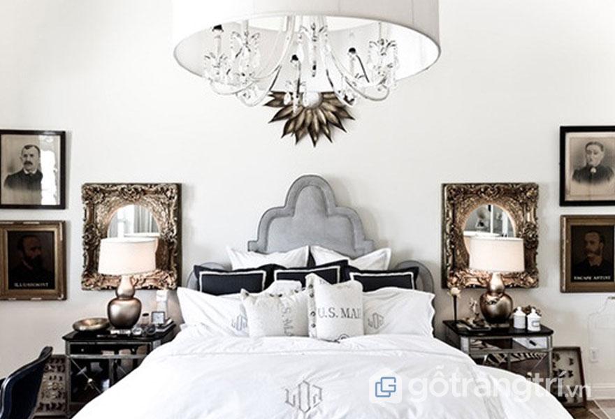 Phong cách nội thất vintage 2019 cho phòng ngủ là sắc trắng tinh khôi (Ảnh: Internet)