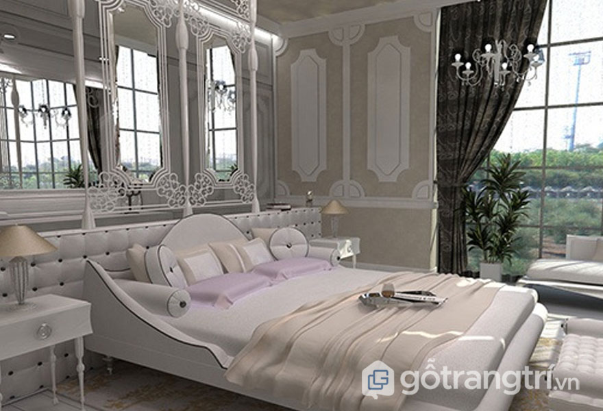 Phong cách nội thất vintage 2019 của phòng ngủ đậm chất cổ điển xưa cũ (Ảnh: Internet)