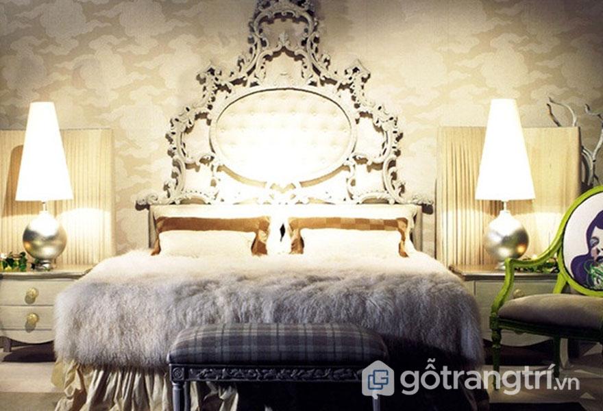 Phòng ngủ không thể thiếu sự xuất hiện đèn ngủ (Ảnh: Internet)
