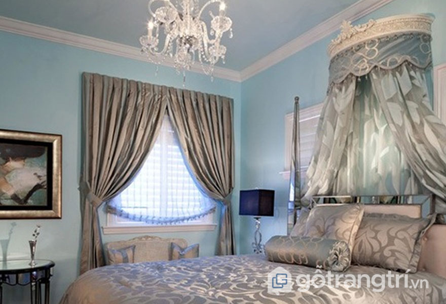 Căn phòng ngủ mềm mại, quý tộc (Ảnh: Internet)