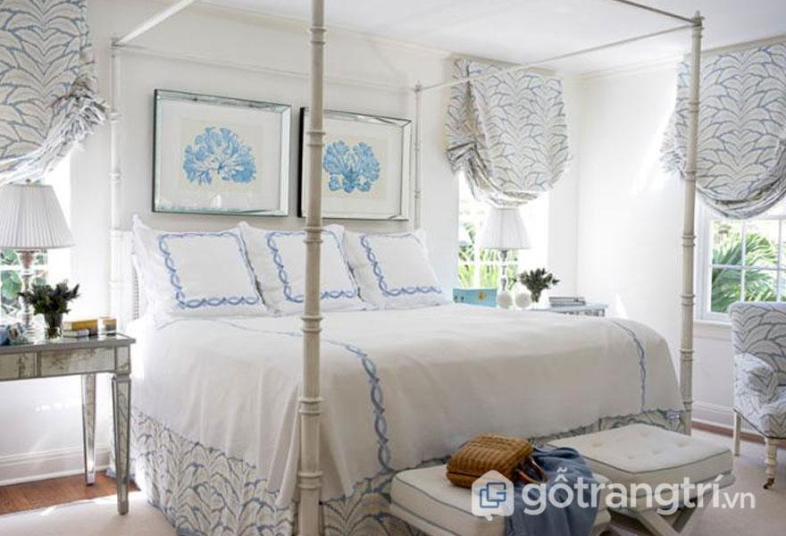 Phòng ngủ vintage thiết kế khá đơn giản, nhẹ nhàng (Ảnh: Internet)