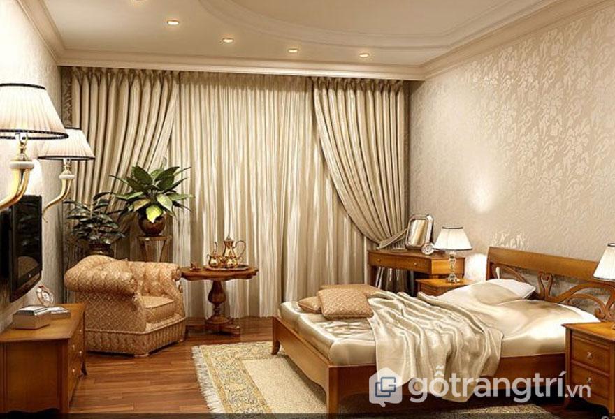 Treo rèm cửa bằng ren mang đến sự mềm mại, ấm áp cho gian phòng (Ảnh: Internet)
