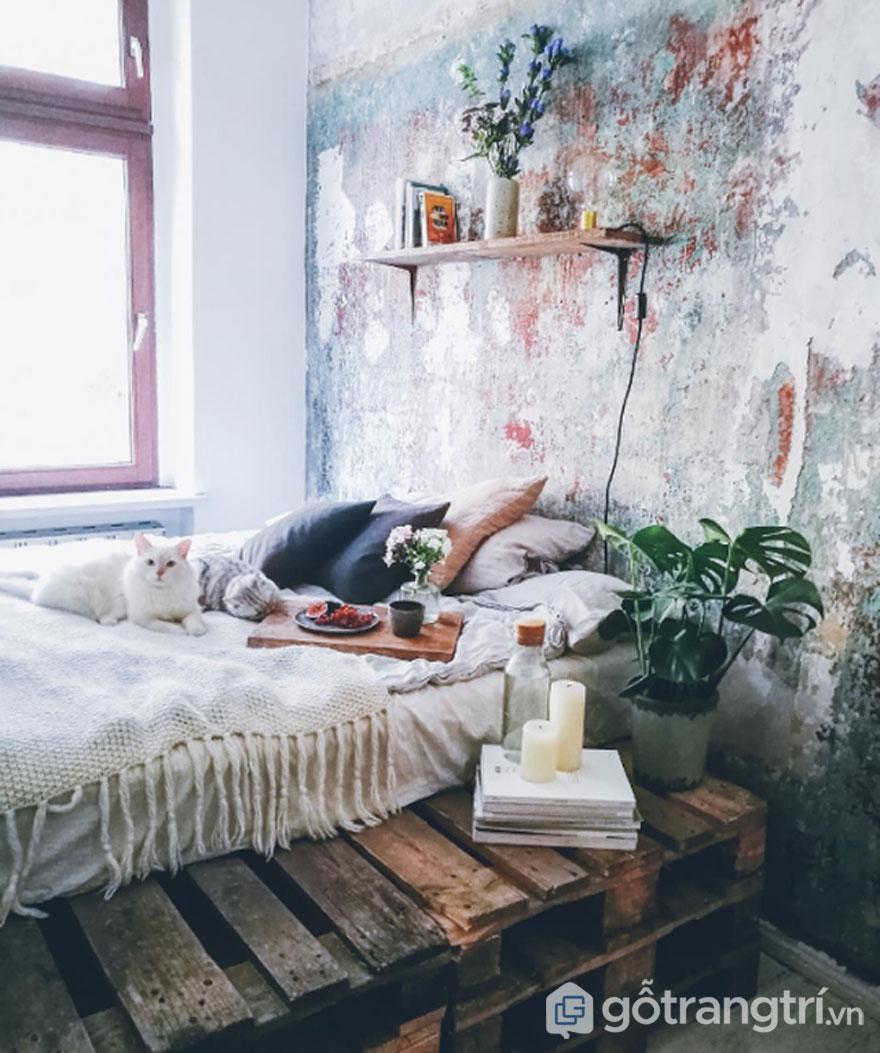 Trang trí phòng ngủ bằng sản phẩm handmade (Ảnh: Internet)