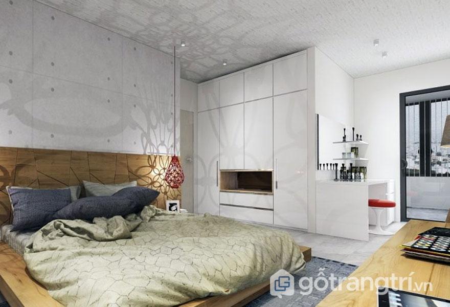 Làm đẹp đầu giường bằng họa tiết hoa văn (Ảnh: Internet)