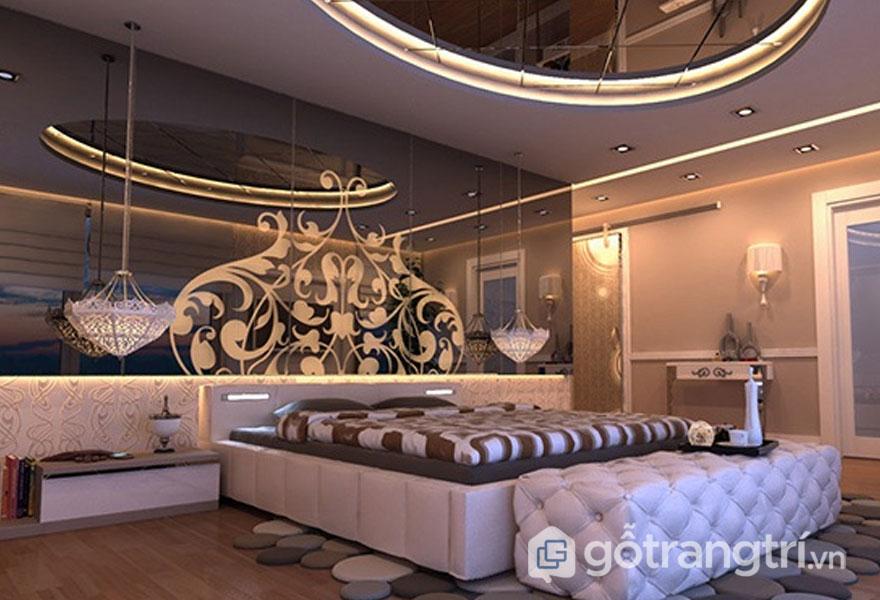 Phòng ngủ vintage thiết kế khá đơn giản nhưng rất quyến rũ bởi sự bài trí sinh động (Ảnh: Internet)