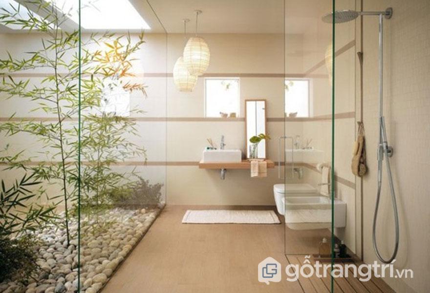 Phong cách phòng tắm zen khá nhẹ nhàng (Ảnh: Internet)
