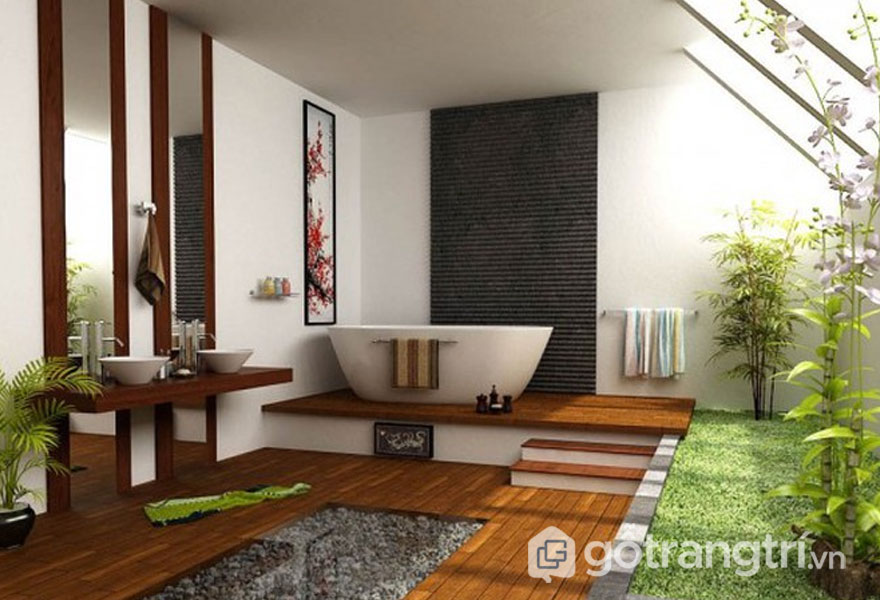 Sự sang trọng, hiện đại với phòng tắm zen (Ảnh: Internet)