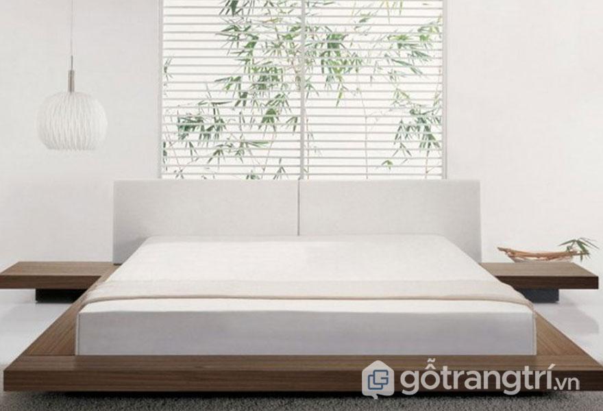 Phòng ngủ zen khá nhẹ nhàng với tông màu trắng (Ảnh: Internet)