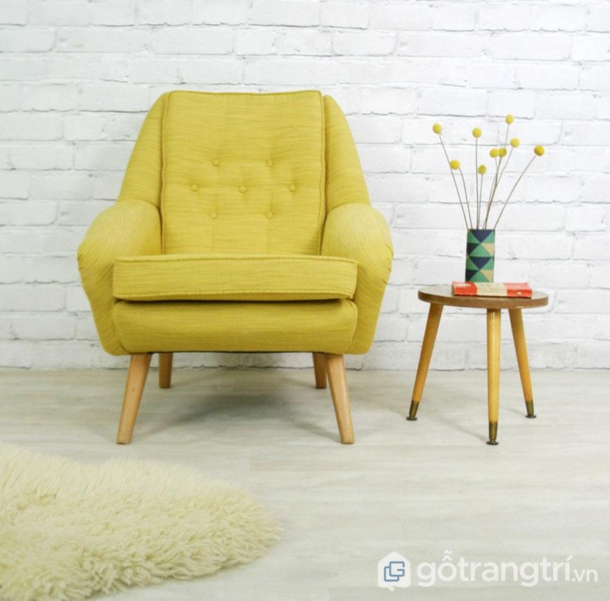 Ghế sofa màu vàng chanh khá đẹp (Ảnh: Internet)