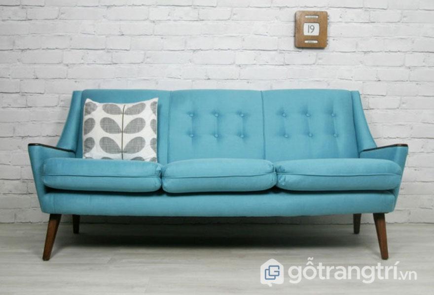 Ghế sofa màu vàng xanh lam mềm mại (Ảnh: Internet)