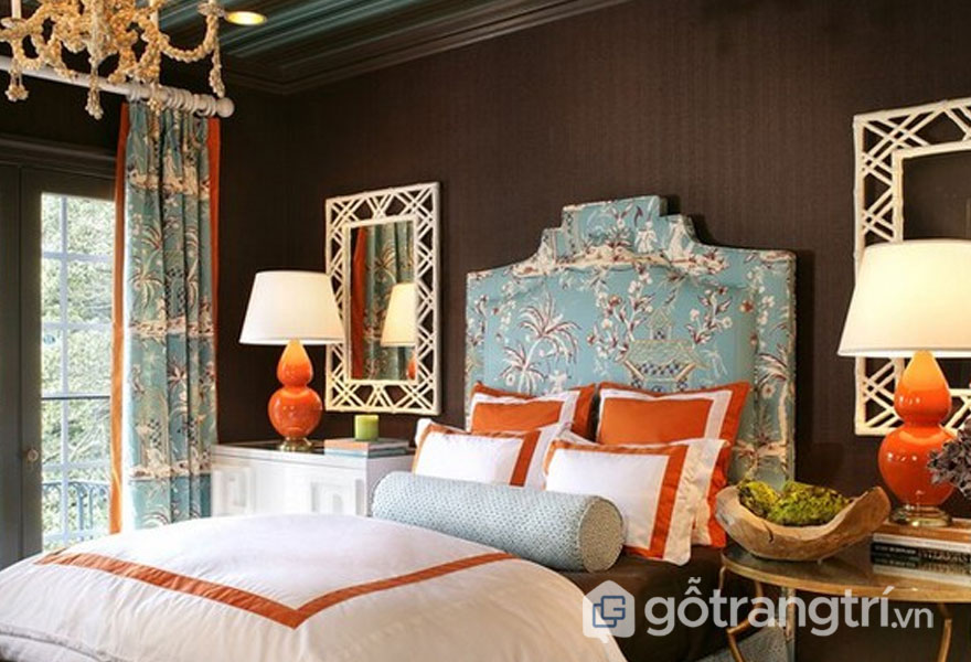 Phòng ngủ theo phong cách retro khá phóng khoáng (Ảnh: Internet)