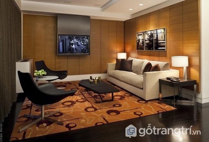 Phong cách retro trong thiết kế nội thất không thể thiếu đi nguồn ánh sáng ấm cúng (Ảnh: Internet)