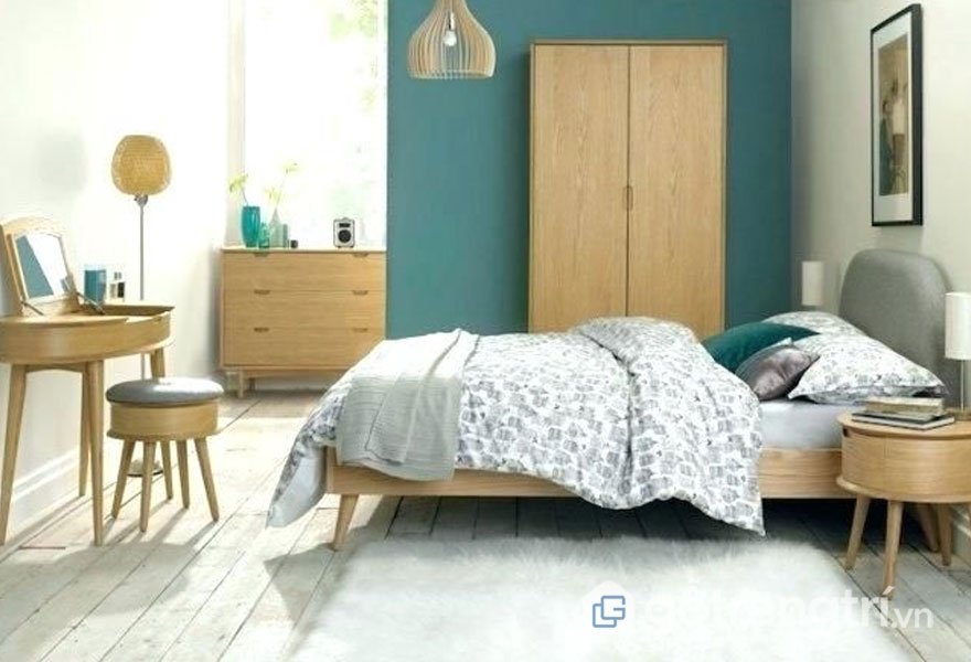 Nội thất có màu đơn giản, chất liệu gỗ phối màu nổi bật(Ảnh: Internet)