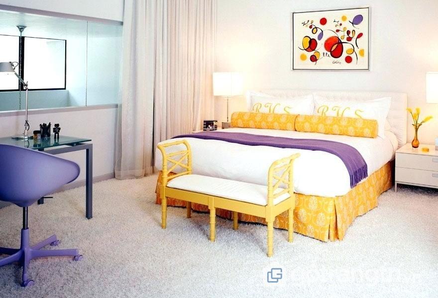 Phòng ngủ retro hiện đại (Ảnh: Internet)