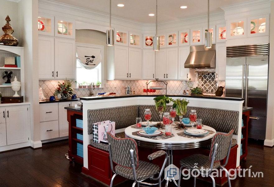 Sự hòa trộn giữa nét đẹp hiện đại, tiện nghi nhà bếp tôn lên nét đẹp của phong cách retro style (Ảnh: Internet)