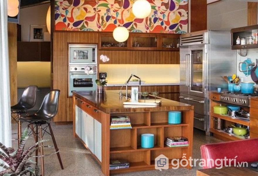Căn bếp được trang trí phong cách retro style cực chất (Ảnh: Internet)