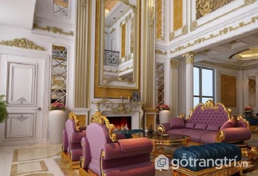 Sofa tân cổ điển được nhập khẩu khá đẳng cấp vương giả (Ảnh: Internet)