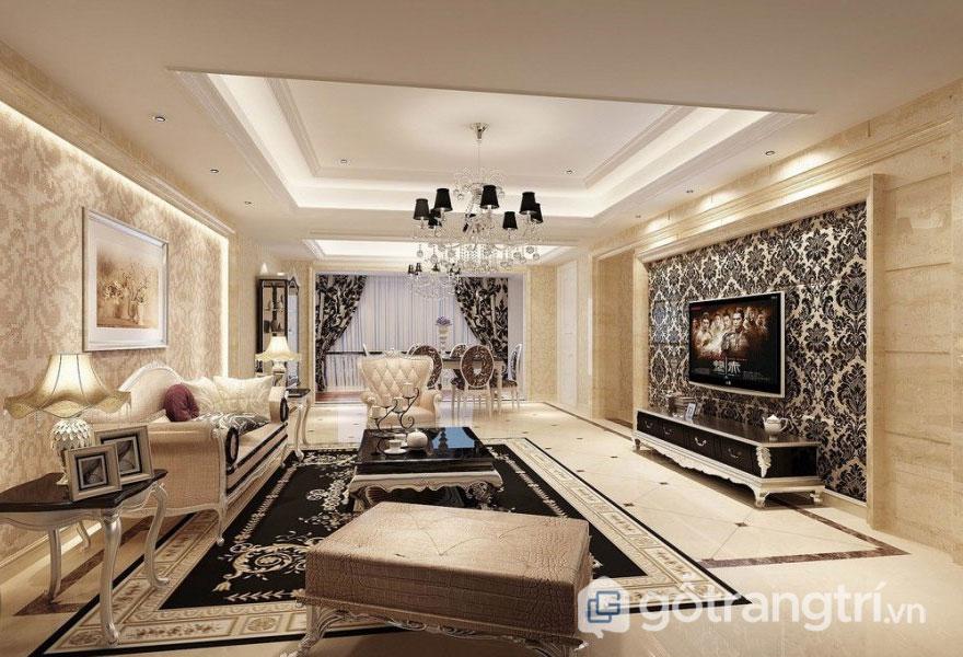 Phong cách tân cổ điển đã được áp dụng rộng rãi hơn trong những công trình thiết kế và thi công nội thất như showroom, nhà chung cư hay biệt thự nhà phố, khách sạn cao cấp (Ảnh: Internet)