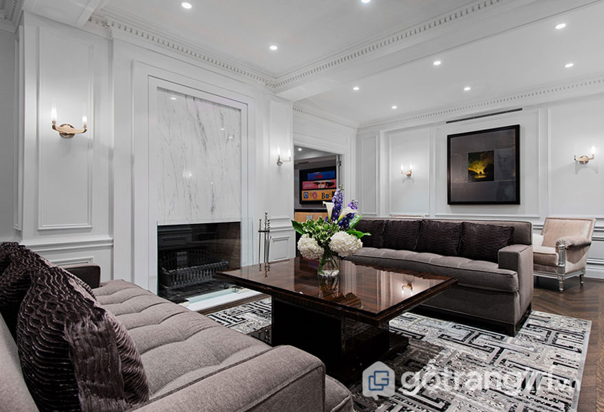 Có thể thấy, nội thất tân cổ điển hay được các KTS, nhà thiết kế lựa chọn những tông màu trầm tối như: ren, xám, đen, booc-đô...(Ảnh: Internet)