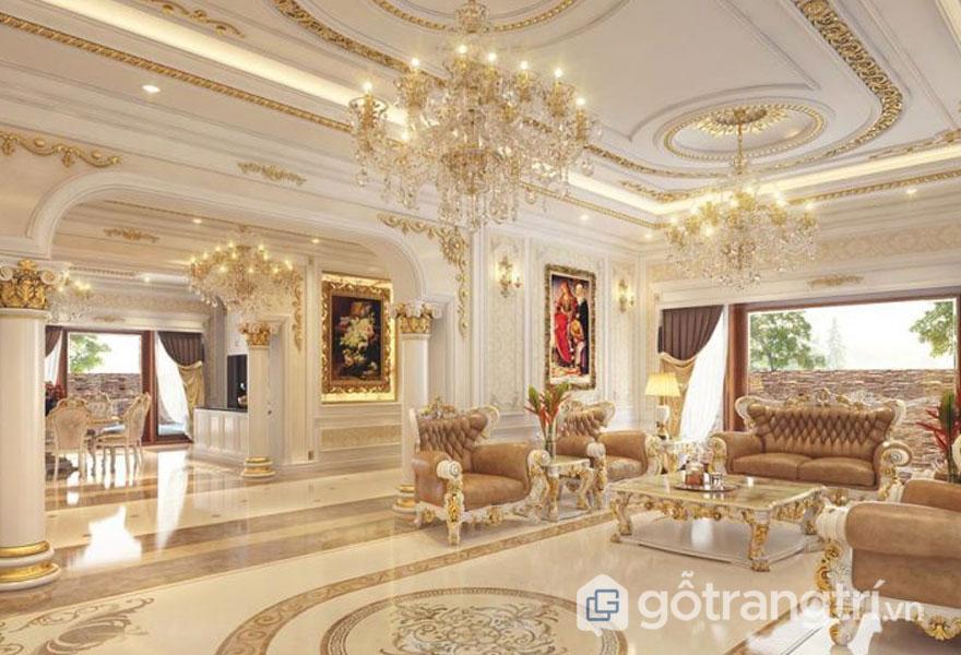 Sofa đẳng cấp dành cho hoàng gia Châu Âu (Ảnh: Internet)