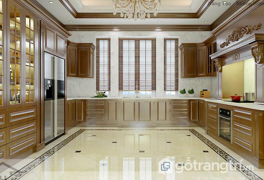 Tủ bếp phong cách tân cổ điển (Ảnh: Internet)