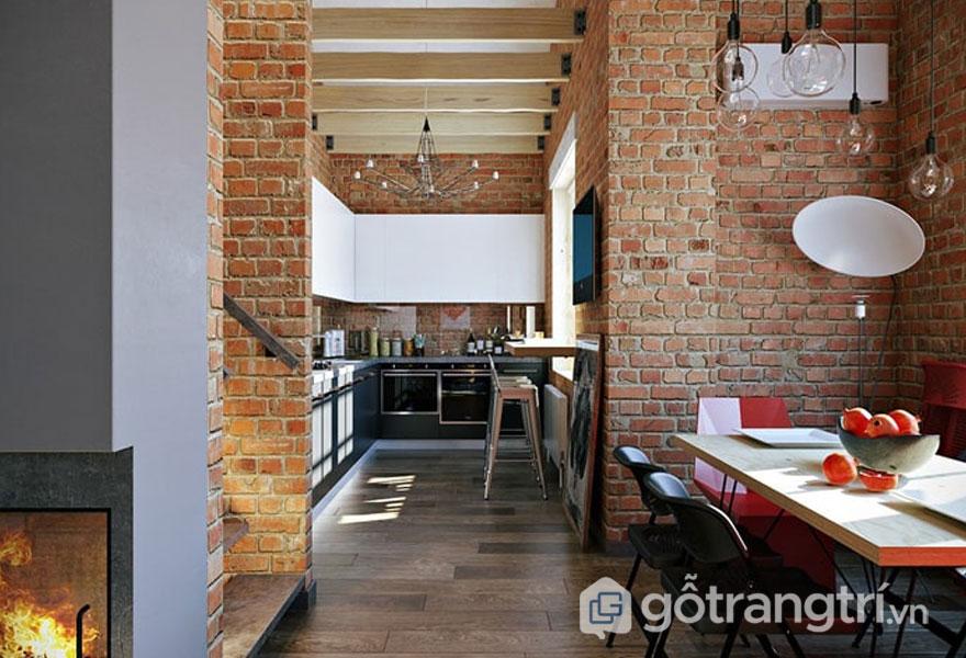 Phòng ăn thiết kế ngay cạnh gian bếp (Ảnh: Internet)