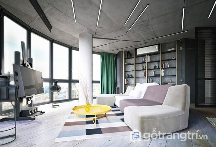 Căn hộ này được thiết kế với hệ cửa sổ lớn để đưa ánh sáng vào phòng (Ảnh: Internet)