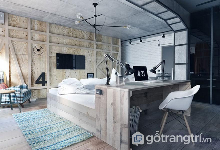 Bức tường gỗ là đặc trưng của căn phòng này (Ảnh: Internet)